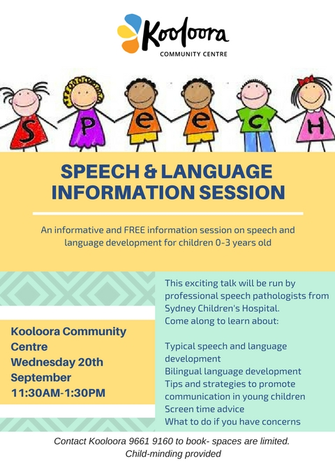 speech & language FLYER