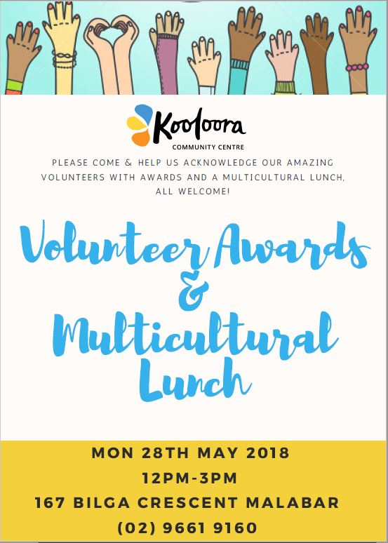 Volunteer Awards & Multicultural Lunch FB post