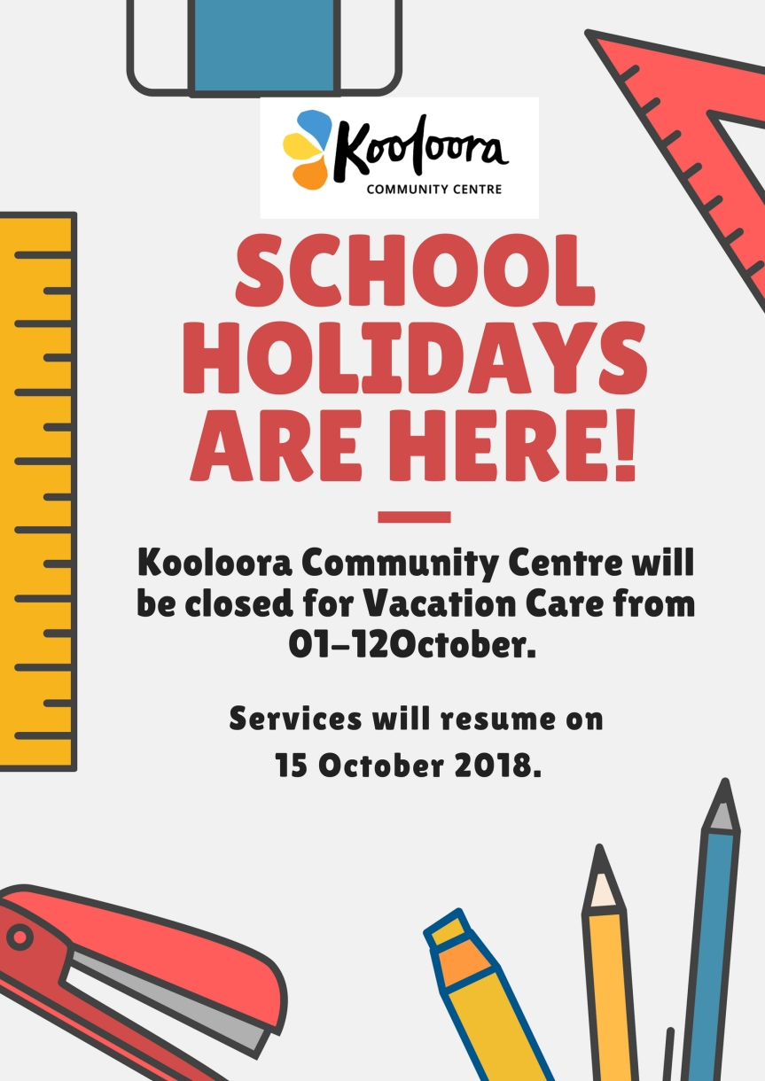 schoolholidays are here!